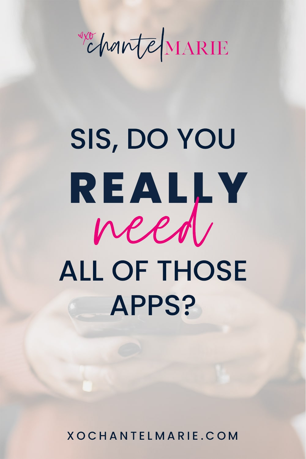 Do You Really Need All of Those Apps? No matter your career or business niche, you're busy and don't need any more distractions from your tasks at hand. So why are you allowing all the apps on your phone to cause distractions when your time can be better used? It's time to digitally declutter your life, starting with removing apps that are too distracting and that take up a lot of space on your phone. (Yes, friend, I'm talking about Candy Crush too).