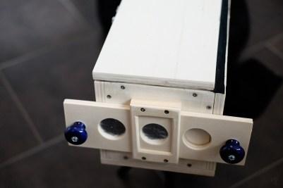...die Camera Obscura - wir hätten auch nur Leimen können, aber so geschraubt übersteht sie auch das nächste Jahrhundert