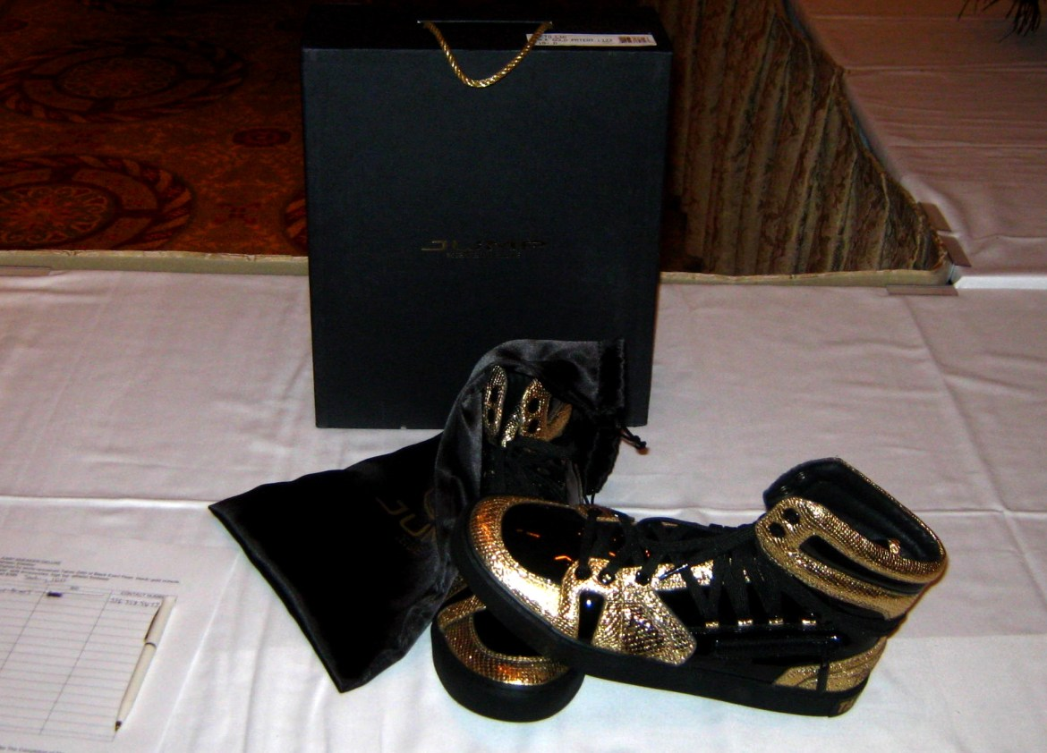 Celebrity donated Sneakers for auction