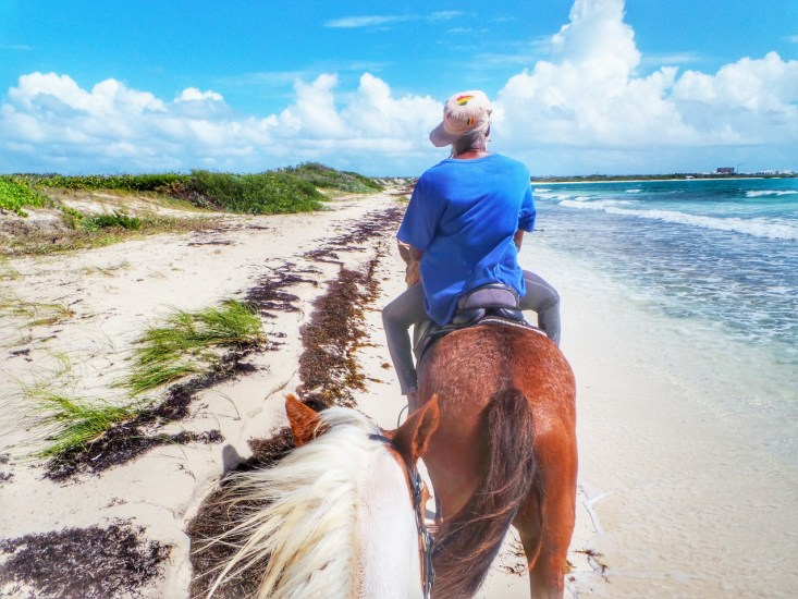 Be sure to take advantage of the horseback riding on the beach. Very relaxing!