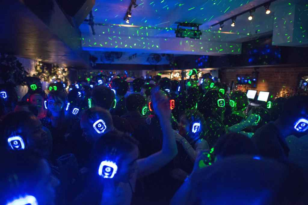 Quiet Clubbing - Glowing Headphones