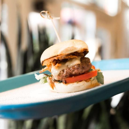 Chefs Club Counter Opening - JG Burger Slider - Photographer Benjamin Lozovsky - BFA.com