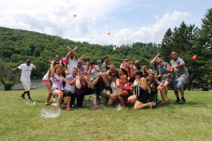 Water Balloon Group Photo