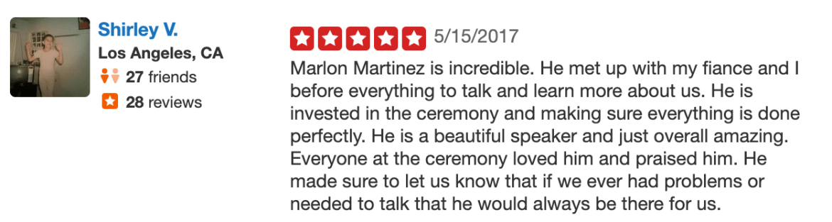 Celestial Wedding Officiants Wedding Officiant Reviews Los Angeles