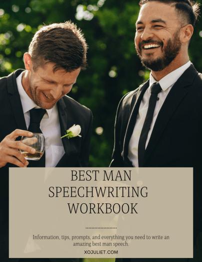 best man speech writing workbook