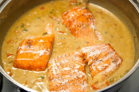 organic and paleo friendly salmon with spicy coconut curry easy healthy weeknight dinner