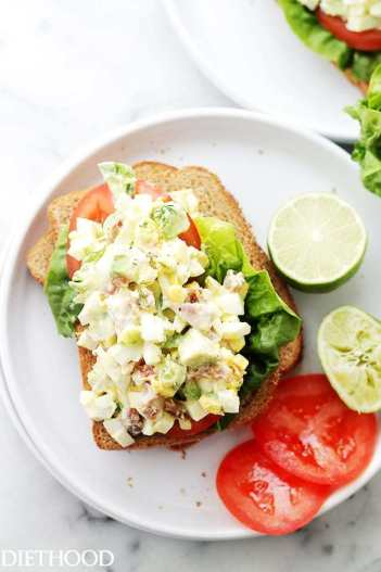 avocado egg salad toast for 10 Ketogenic Meals That Help You Lose Weight: OMG! I just found this out and I have to share it! Have you ever heard of a high fat, high protein and low carb diet? Did you know that such a lifestyle exists? The answer is yes! This diet is called Ketogenic Diet. This keto diet sounds crazy but totally works if you stick to eat! And what's even better you can eat bacon and lose weight! So cool! Pinning for later!