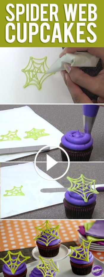 How to Make Spiders Web Cupcakes for Halloween Perfect for Newbie Beginner Bakers