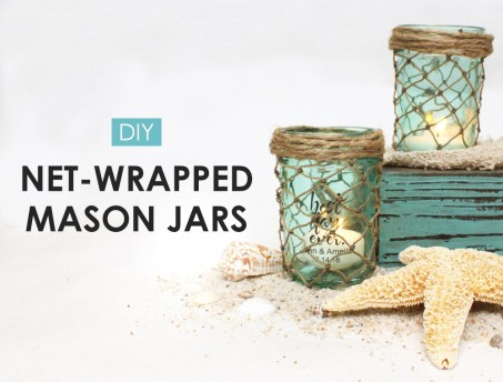 DIY under the sea mermaid party idea. DIY mason jar wrapped net. Who doesn't love mermaids?! This is genius! So perfect for kids birthday parties! Under the sea and the little mermaid as a party is awesome! So many DIY ideas that are easy and cheap. Which is even better since we done want to break our budgets throwing a mermaid party. I like the food, dessert, decorating, activity ideas! Love it saving it for later!