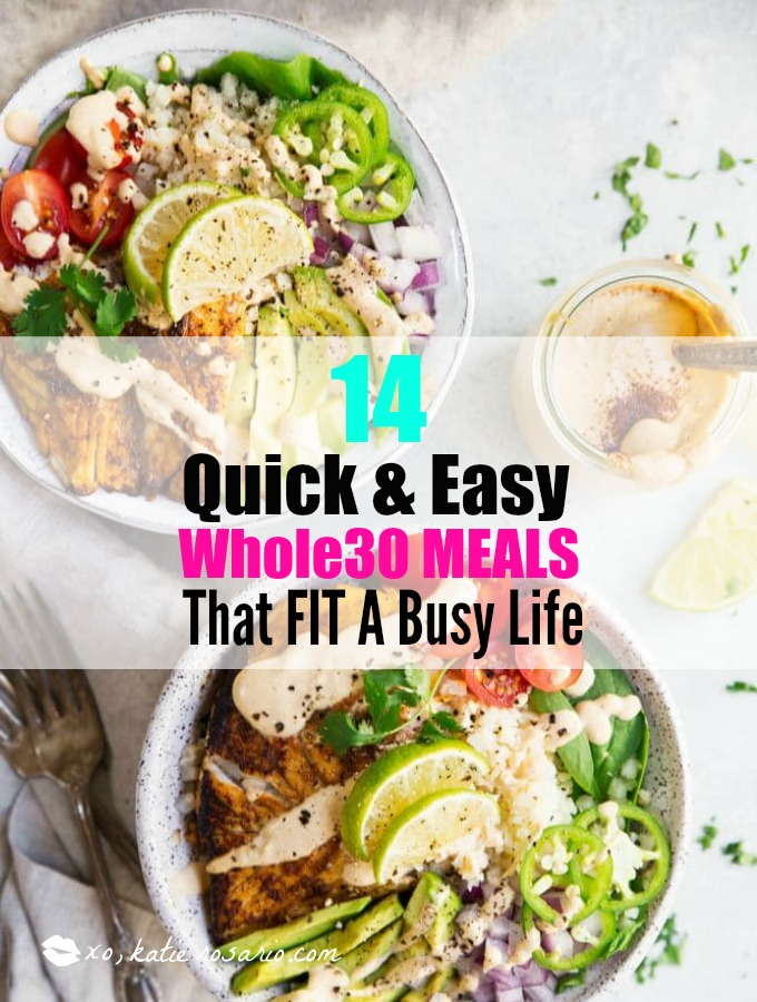This is so perfect for busy weeknights and still stay on a Whole30 lifestyle! I love Whole30! Its easy and so fast to make these meals for you and your family and still keep on your diet and lose weight! Just because you are busy doesn't mean you can't eat well like Whole30! Saving for later!