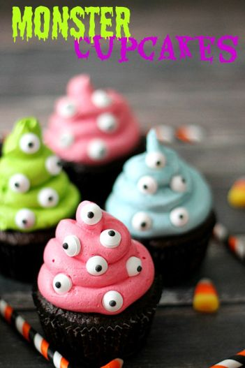 Spooky monster cupcakes that every newbie beginner baker needs to know for this Halloween