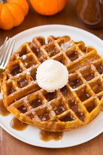 Pumpkin waffle desserts. How to make pumpkin desserts this fall.
