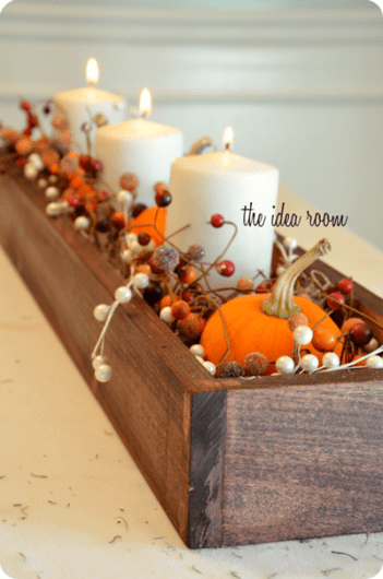DIY Fall thanksgiving table centerpiece