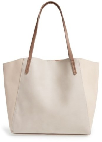 Brown Faux Leather Colorblock Tote Bag. I love this guide! OMG! its so perfect for this holiday shopping season! I think most girls would love something from this post! The gift guide for her is perfect since everything is under $50. It certainly is going to make online shopping so much easier! Saving it for later!