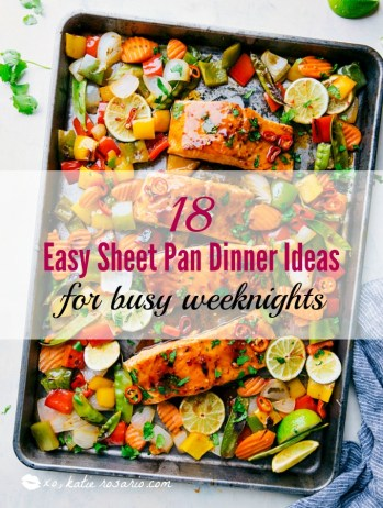 One pan, sheet pan dinners! I am so excited for this! I am always looking for easy and delicious dinner recipes that I can make during a busy weeknight. I didn't think I was going to love the sheet pan dinners but you know what I totally get it now and think it's a brilliant weeknight dinner solution! When I come home from work I don't want to stand over the stove so set it and forget it meals are the way I want to love during the week! Great dinner ideas for busy moms!
