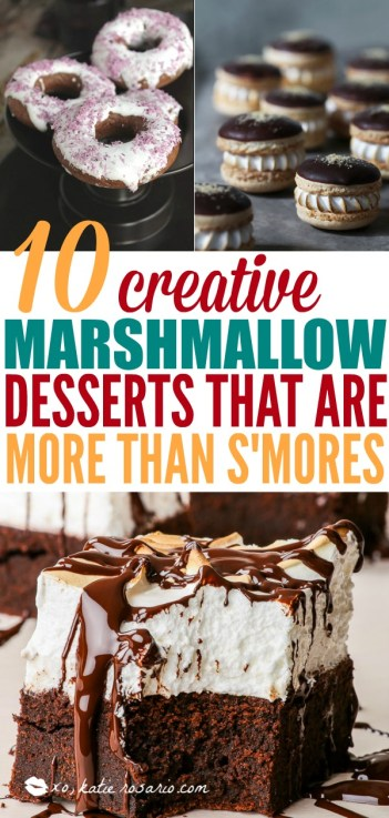 Marshmallow treats are the best especially when summer is here! This take the campfire dessert recipe to another level. These marshmallow treats are better than campfire s'mores. From decadent macarons to frothy milkshakes and party-worthy pops, these cool desserts featuring light, fluffy marshmallows will be a hit with kids and adults alike. This is a must try! #smores #marshmallowrecipes #dessertrecipes
