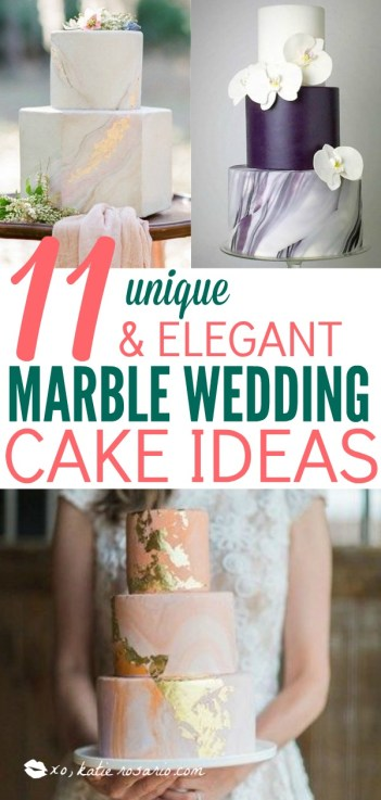 Marble Wedding Cakes for a Modern Bride. I am obsessed with these marble wedding cakes. They have been having a moment for a while and brides are thrilled to have a marbled wedding cake for their big day. These outstanding cakes come in just about any shade you like. Check out these insanely beautiful marble wedding cake ideas perfect for the modern bride! #weddings #weddingcakes #marblecakes