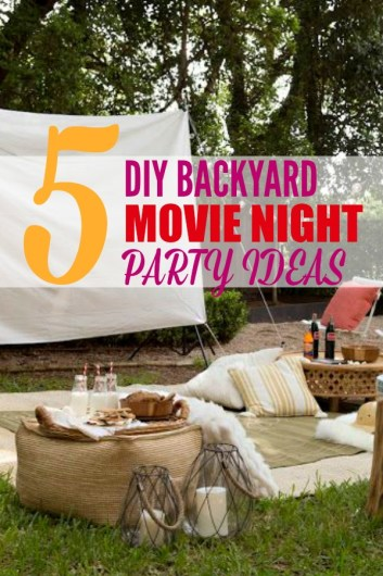 How to DIY Your Own Outdoor Movie Night! There's something magical about watching the stars under the stars. Make summer nights magical and memorable by creating a theater in your backyard. Get family, friends, and neighbors together for an Outdoor Movie Night. Save money with easy and affordable DIY ideas. #diymovienight #backyardmovie #diyoutdoormovienight