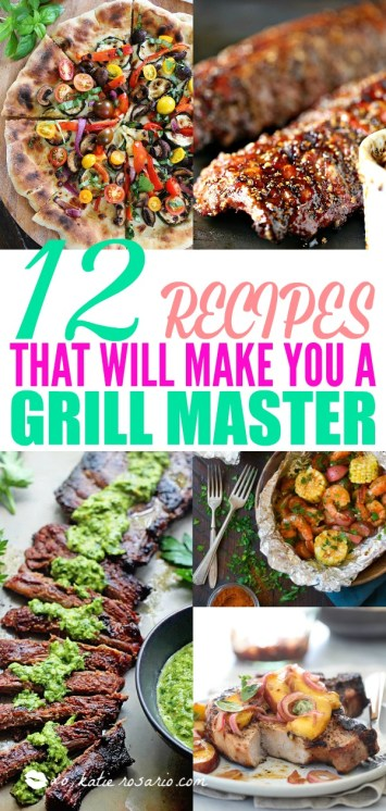 These Easy Grilling recipes are perfect for the weeknight! They are all quick, easy and delicious, yet anyone can master these recipes. Next time you are looking for easy summer grilling recipes make sure to make one of these delicious grilling recipes! #grill #grilling #grillingrecipes via @xokatierosario