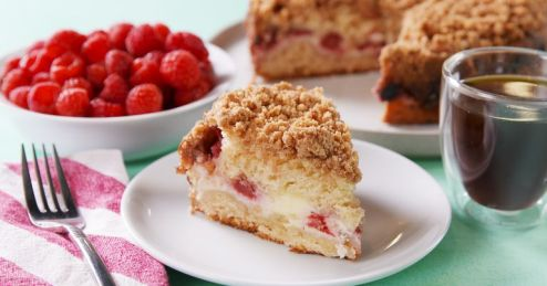 Raspberry Cream Cheese Coffee Cake | Easy Brunch Recipes