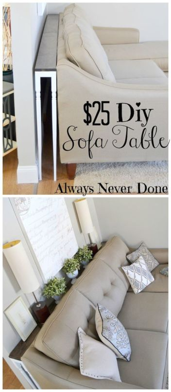 Sofa Side table | DIY Small Space Living Hacks