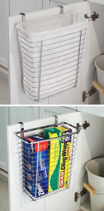 Over the Cabinet Basket | DIY Small Space Living Hacks