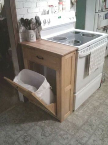 Tilt Out Trash Can | DIY Small Space Living Hacks