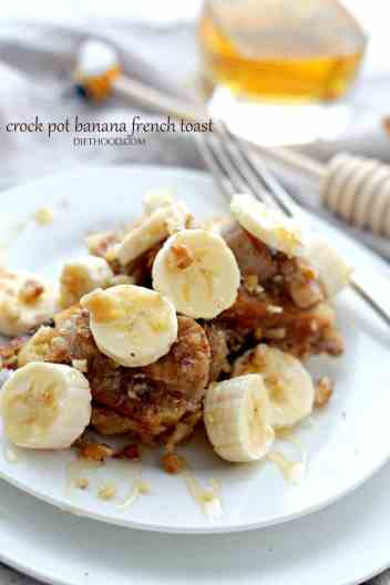 Crockpor Banana French Toast | Crockpot Breakfast Recipes for Busy Mornings