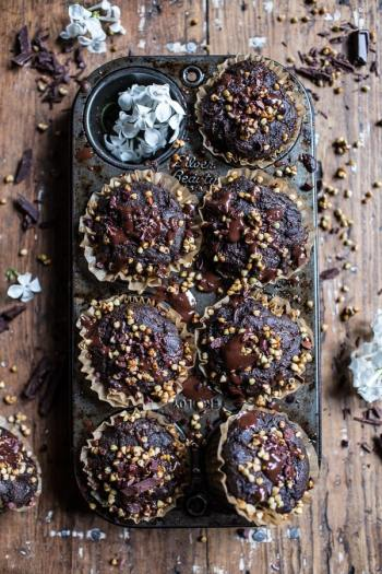 Double Chocolate Coocnut Zucchini Muffins | Easy Desserts Made From Zucchini