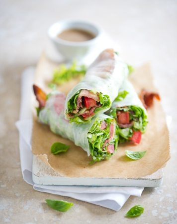 BLT Spring Roll | Low Carb Lunch Recipes
