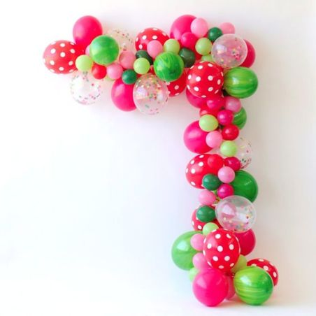 Watermelon Balloon Arch | How to Make Balloon Garland