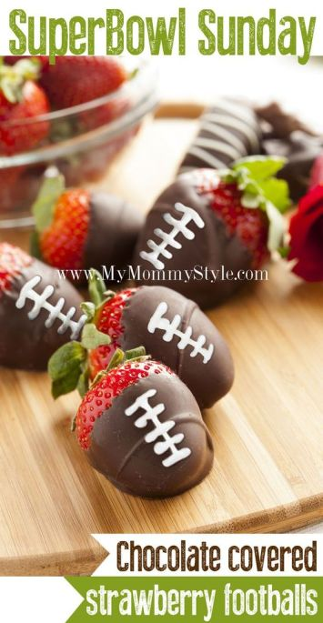 DIY Chocolate Dipped Strawberries | Football Game Day Snacks