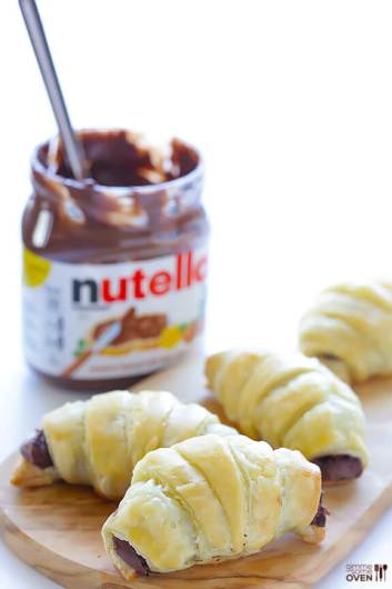 3 Ingredient Nutella Croissants | Easy Puff Pastry Recipes