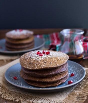 Pumpkin Gingerbread Pancakes | Pumpkin Spice Pancakes