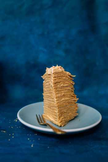 Million Layer Pumpkin Crepe Cake by Brit + Co | Pumpkin Spice Pancakes