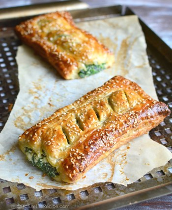 Spinach with Feta And Ricotta Puff Pastry Rolls | Easy Puff Pastry Recipes