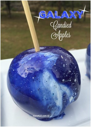 Galaxy Candied Apples | Halloween Candy Apples