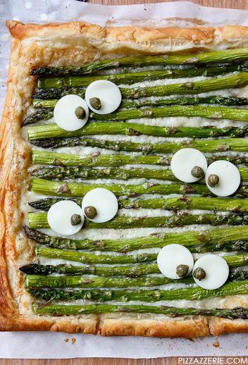 Monster Eye Asparagus Halloween Pizza Tart | Halloween Party Appetizers