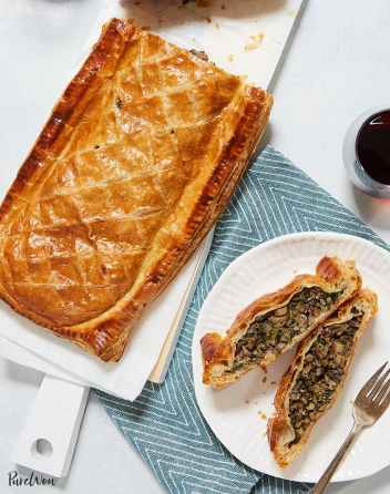 Vegetable Wellington Mushrooms and Spinach   Easy Puff Pastry Recipes