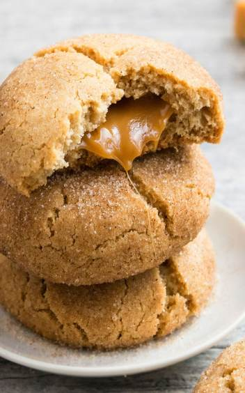 Caramel Snickerdoodles Cookies | Fall Cookie Recipes