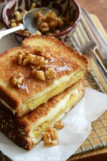 Caramelized Pineapple Grilled Cheese with Honeyed Walnuts | Gourmet Grilled Cheese Recipes