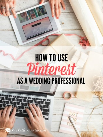 How to use Pinterest as a wedding business owner | Are you using Pinterest strategically as a wedding professional? Wedding inspiration has a huge search interest on Pinterest. Pinners are using Pinterest everyday to plan for their future or upcoming wedding day.