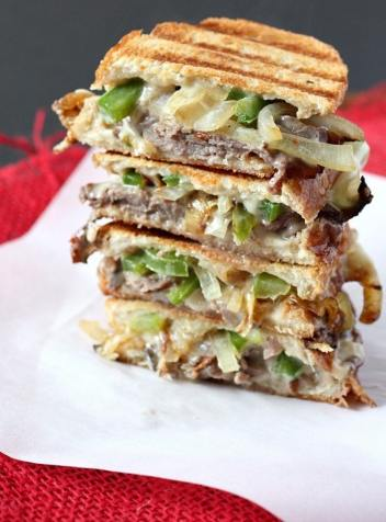 Philly Cheesesteak Grilled Cheese | Gourmet Grilled Cheese Recipes