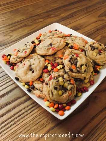 Autumn Harvest Chocolate Chip Cookies | Fall Cookie Recipes