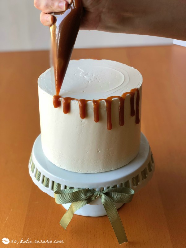 Chocolate Caramel Apple Cake Recipe by @xokatierosario