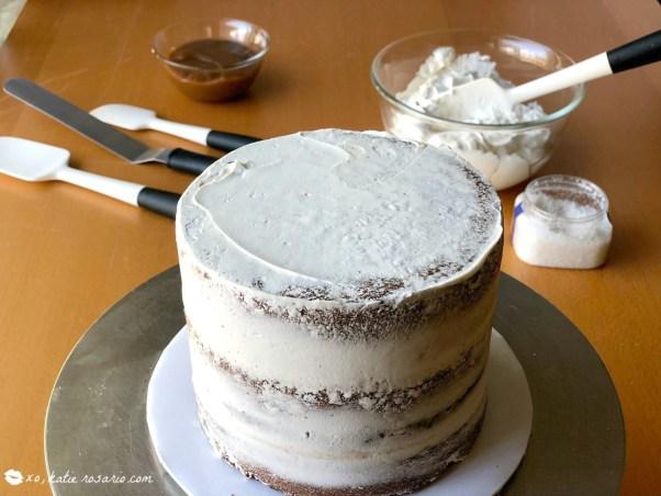 Chocolate Caramel Apple Cake Recipe by @xokatierosario