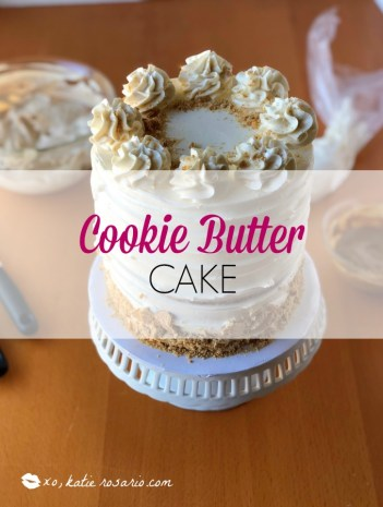 Cookie Butter Cake by @xokatierosario