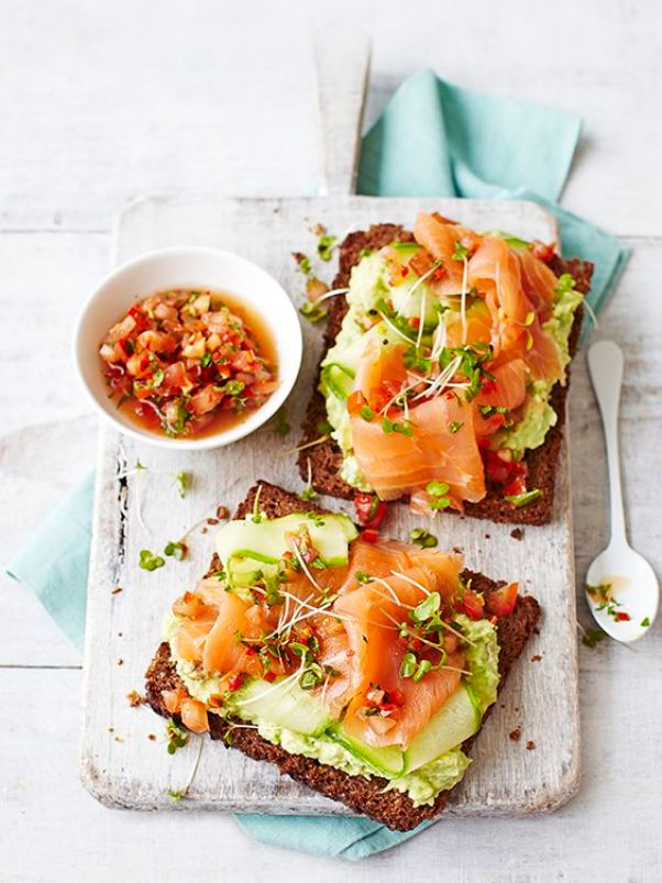 Avocado Toast with Smoked Salmon   13 Fancy Avocado Toasts That Are Totally Craveable
