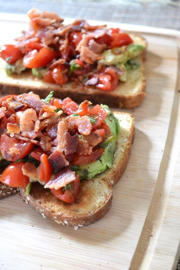 Bacon Bruschetta Avocado Toast | 13 Fancy Avocado Toasts That Are Totally Craveable