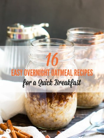 Cold, creamy, overnight oats are perfect for busy mornings. These overnight oatmeal recipes are quick and easy breakfast recipes or a delicious snack on the go. Take advantage of seasonal fresh fruit, nuts, and seed to make these easy Overnight Oat Recipes! #xokatierosario #overnightoats #overnightoatmeals #easyoatmealrecipes